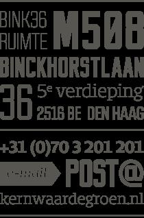 Kernwaarde Groen adresgegevens BINK36
