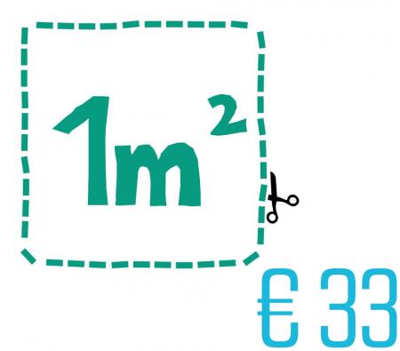 Eén vierkante meter lever €33 op!