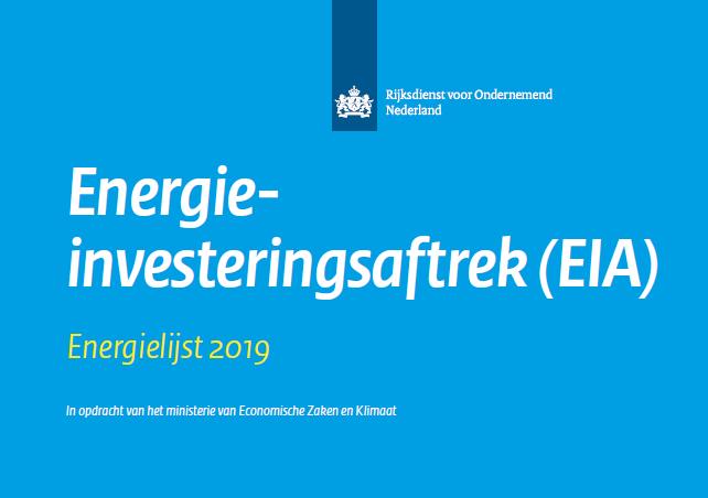 RVO Energie Investeringsaftrek 2019