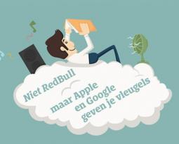 Niet RedBull, maar Apple en Google geven je vleugels
