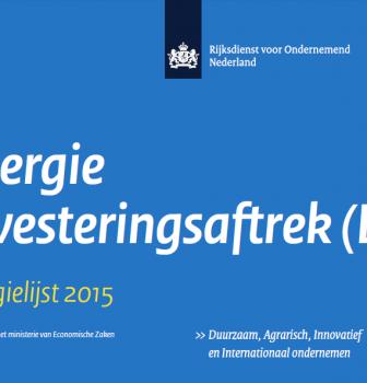 In 2015 opnieuw fiscaal voordeel met EIA